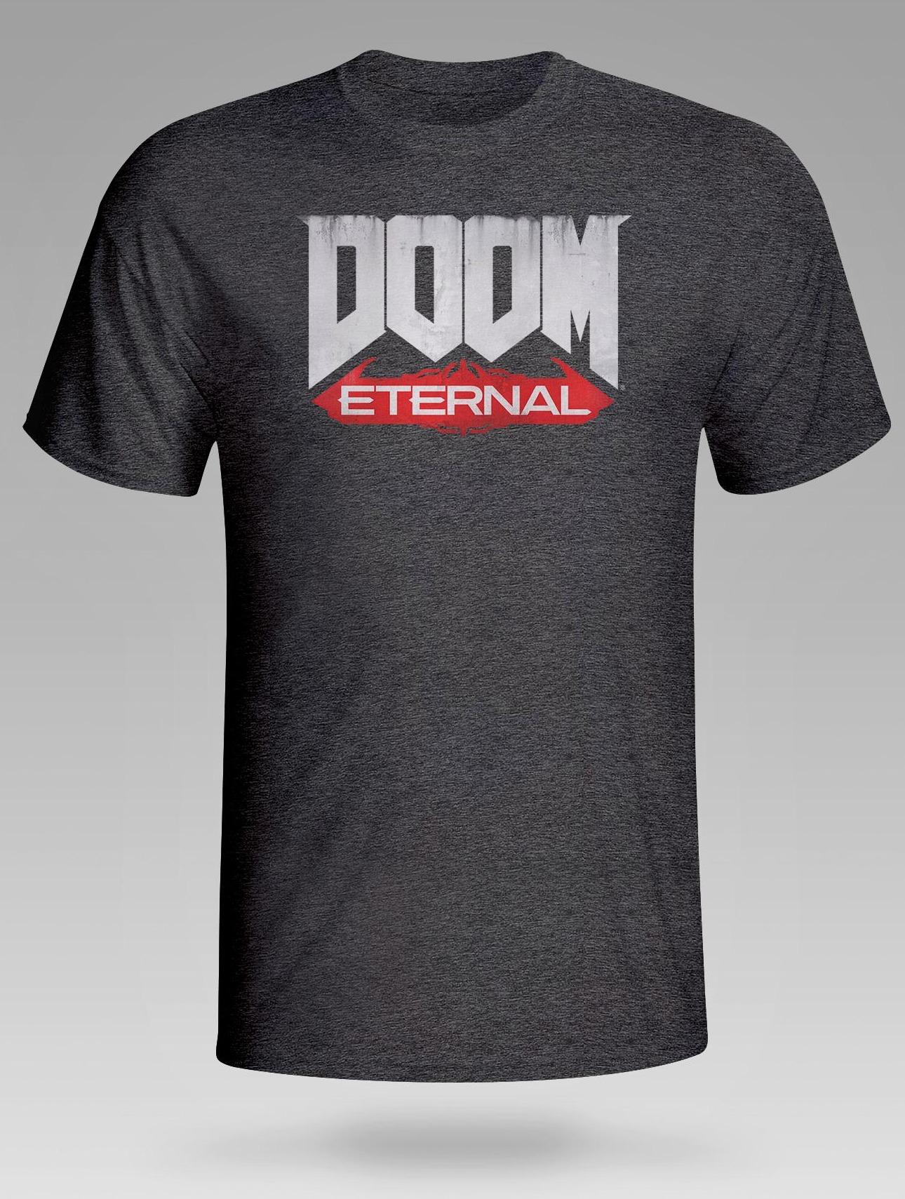 Tričko Doom: Eternal - Logo, tmavě šedé (velikost S) (PC)
