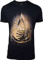 Tričko Assassins Creed: Origins -  Hieroglyphics Crest (velikost L)
