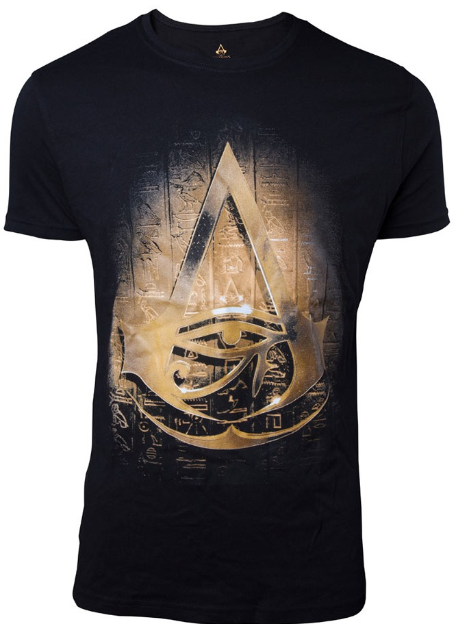 Tričko Assassins Creed: Origins -  Hieroglyphics Crest (velikost XXL) (PC)