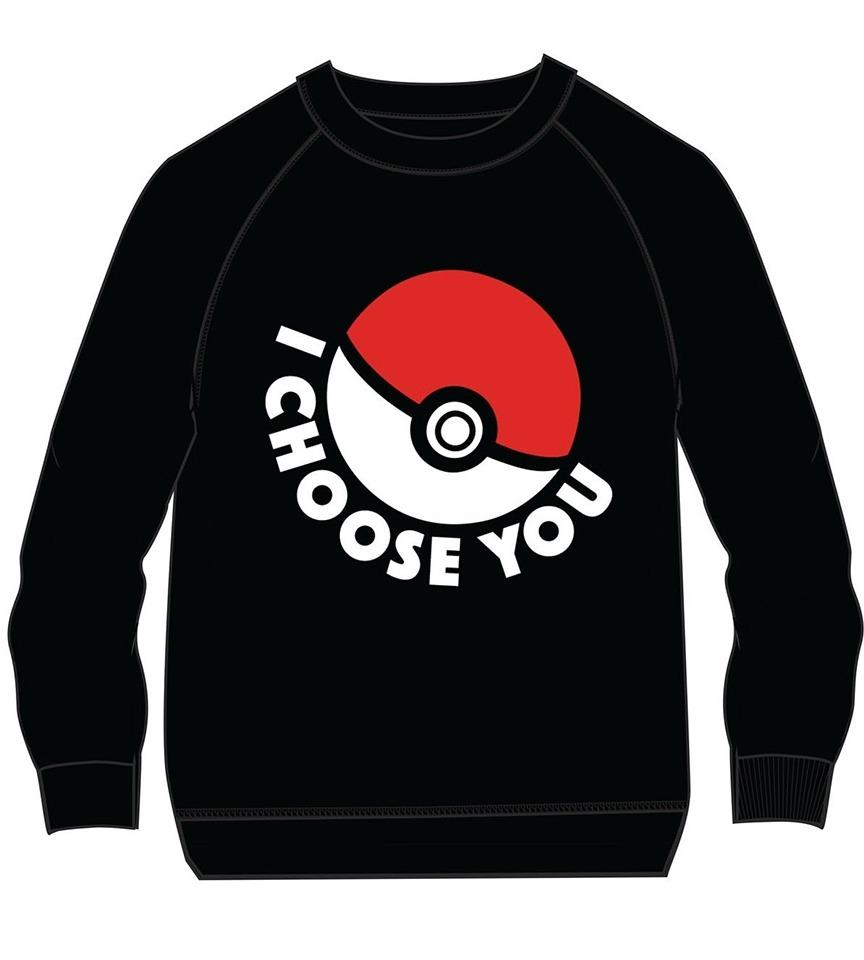 Mikina dětská Pokémon - I Choose You (velikost 134) (PC)