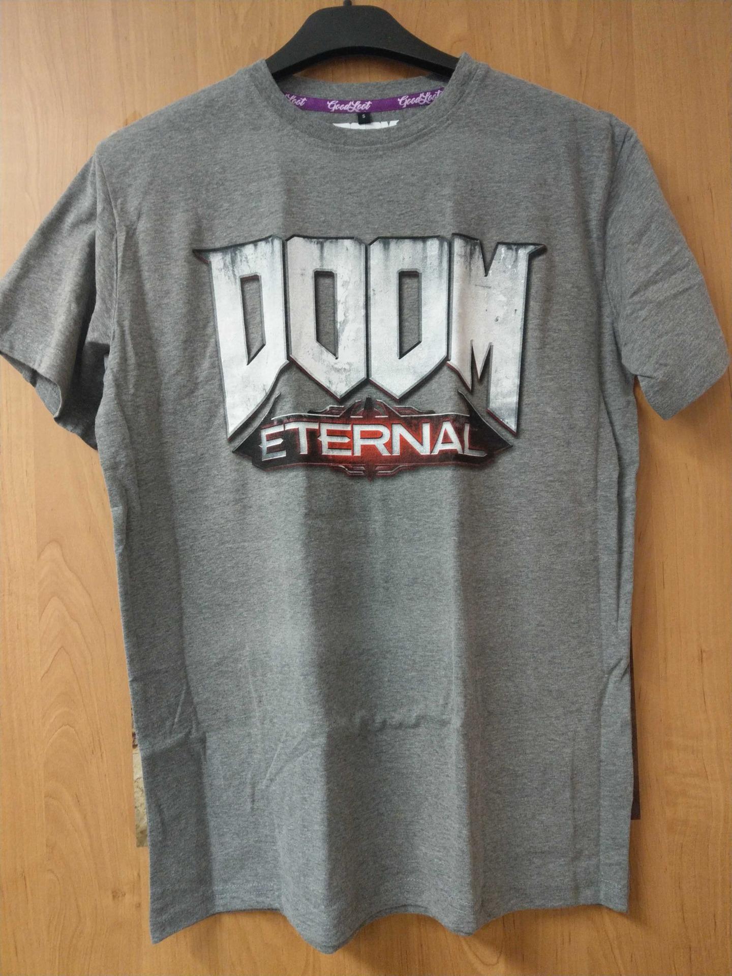 Tričko Doom: Eternal - Logo, světle šedé (velikost M) (PC)