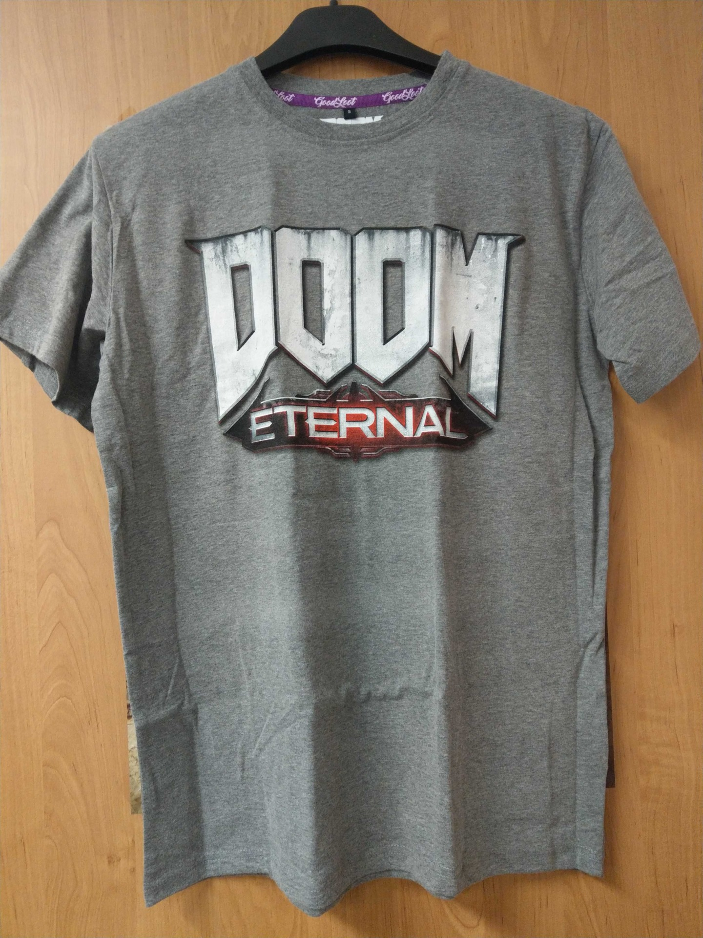 Tričko Doom: Eternal - Logo, světle šedé (velikost L) (PC)