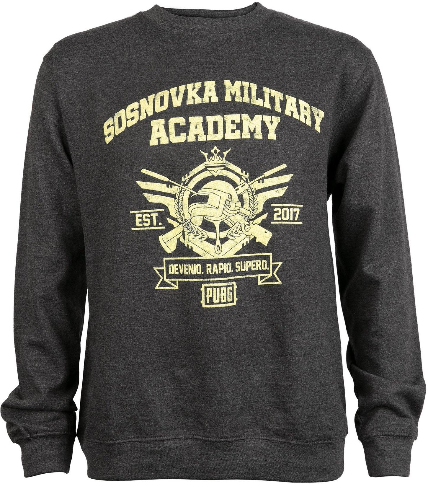 Mikina PUBG - Military Academy (americká vel. L / evropská XL)
