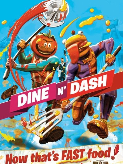 Plakát Fortnite - Dine N Dash (PC)