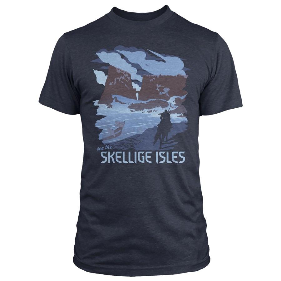 Tričko Zaklínač - See the Skellige Isles (americká vel. S / evropská M) (PC)