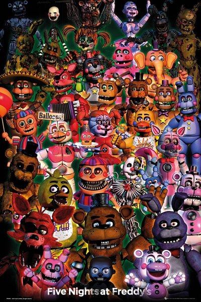 Plakát Five Nights at Freddys - Ultimate Group (PC)