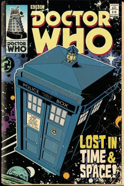 Plakát Doctor Who - Tardis Comic (PC)
