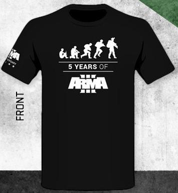 Tričko ArmA III - 5 Years of ArmA III (velikost L) (PC)