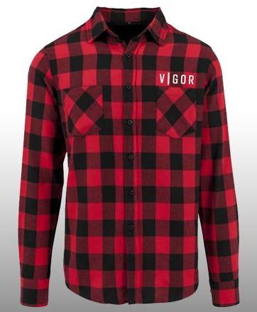 Košile Vigor - Károvaná (velikost L) (PC)