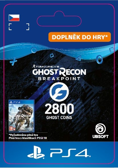Ghost Recon Breakpoint - 2400 (+400) Ghost Coins (PS4 DIGITAL) (PS4)
