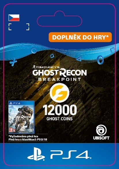 Ghost Recon Breakpoint - 9600 (+2400) Ghost Coins (PS4 DIGITAL) (PS4)