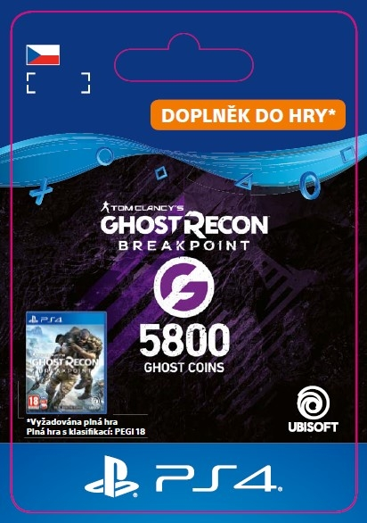 Ghost Recon Breakpoint - 4800 (+1000) Ghost Coins (PS4 DIGITAL) (PS4)
