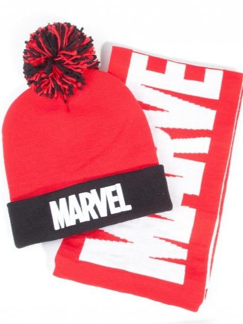 Čepice se šálou Marvel - Logo (PC)