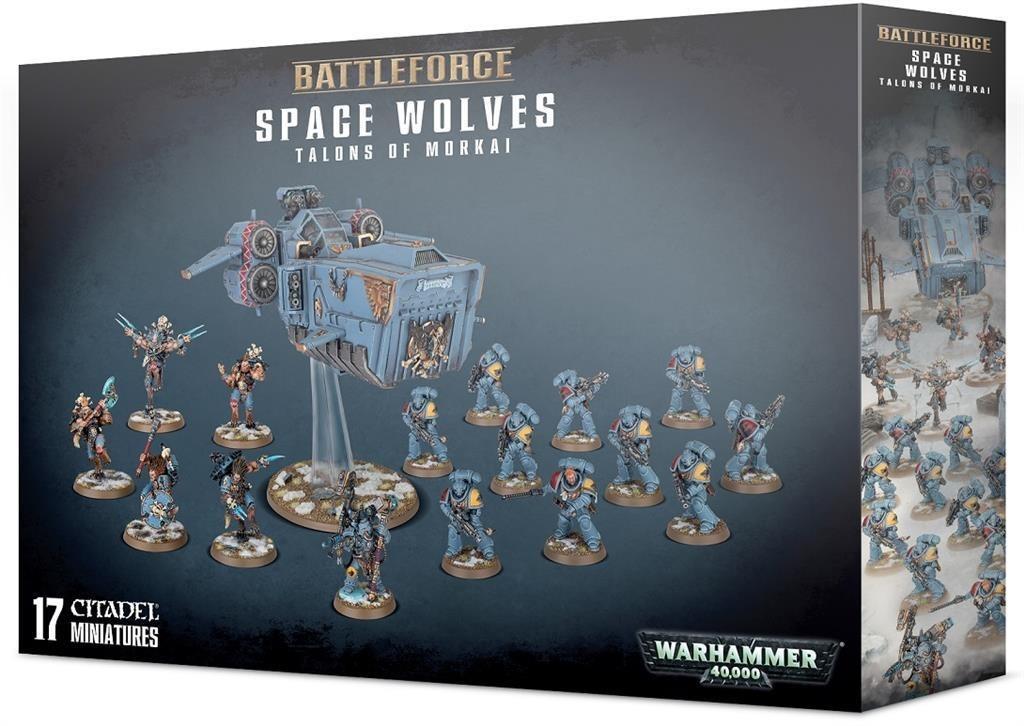 W40k: Space Wolves Fenrisian Wolf Pack Talons of Morkai (17 figurek) (PC)