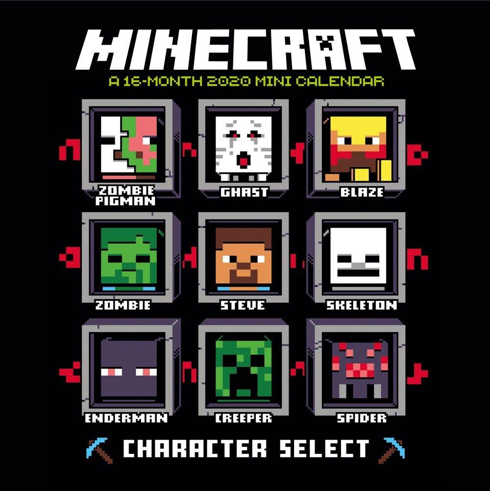 Kalendář Minecraft 2020 - Mini (PC)