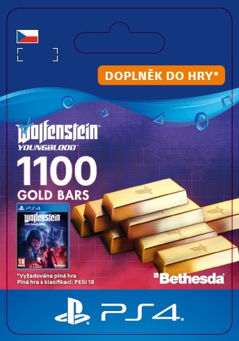 Wolfenstein: Youngblood - 1100 Gold Bars (PS4 DIGITAL) (PS4)