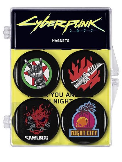 Magnet Cyberpunk - Sada 4 magnetů (PC)