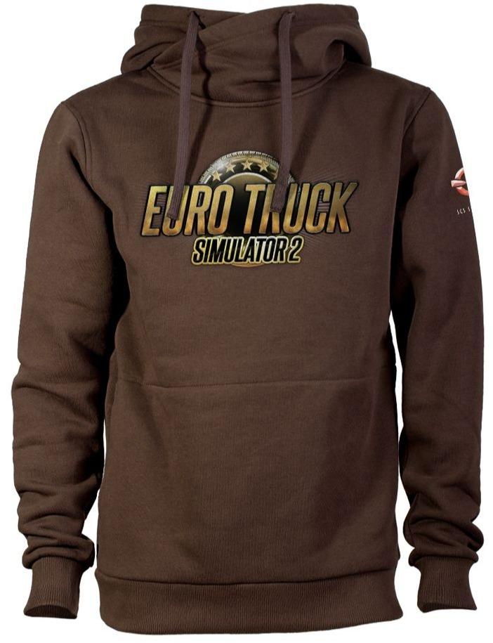 Mikina Euro Truck Simulator - Hnědá s logem (velikost XL) (PC)