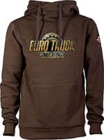 Mikina Euro Truck Simulator - Hnědá s logem