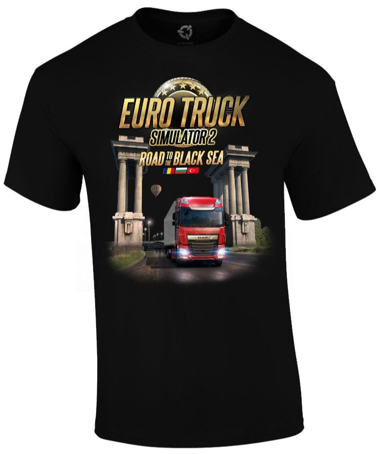 Tričko Euro Truck Simulator - Road to the Black Sea (velikost L) (PC)