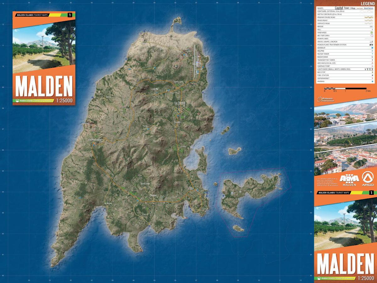 Mapa Arma 3 - Malden (PC)