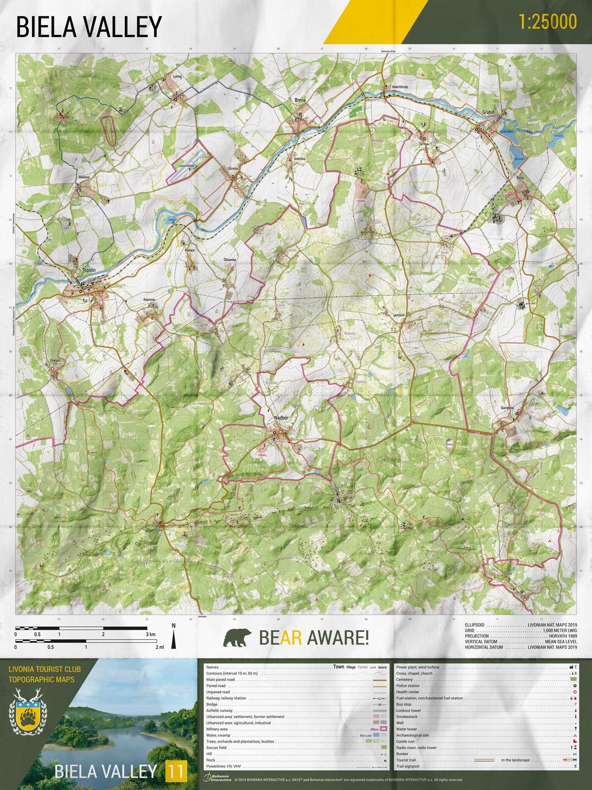 Mapa DayZ - Livonia (PC)