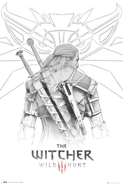 Plakát Zaklínač - Geralt Sketch (PC)