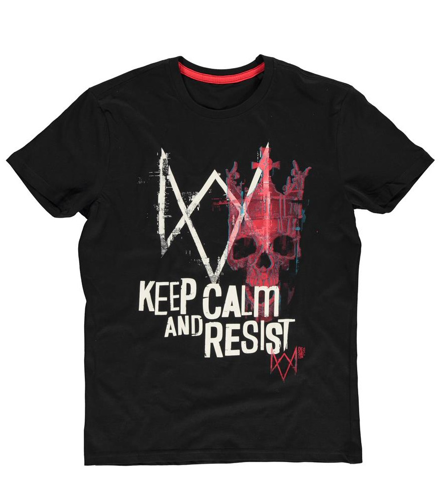 Tričko Watch Dogs: Legion - Keep Calm and Resist (velikost XL) (PC)
