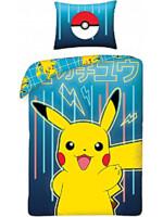 Povlečení Pokémon - Pikachu modré