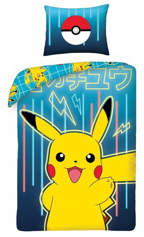 Povlečení Pokémon - Pikachu modré (PC)