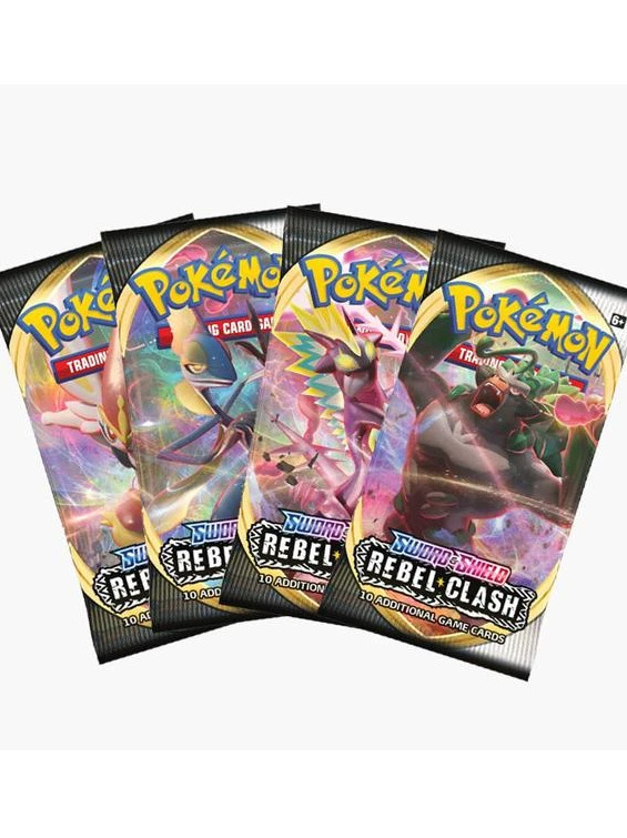 Karetní hra Pokémon TCG: Sword and Shield Rebel Clash - Booster (10 karet) (PC)