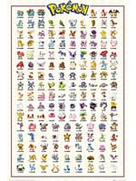 Plakát Pokémon - Kanto 151