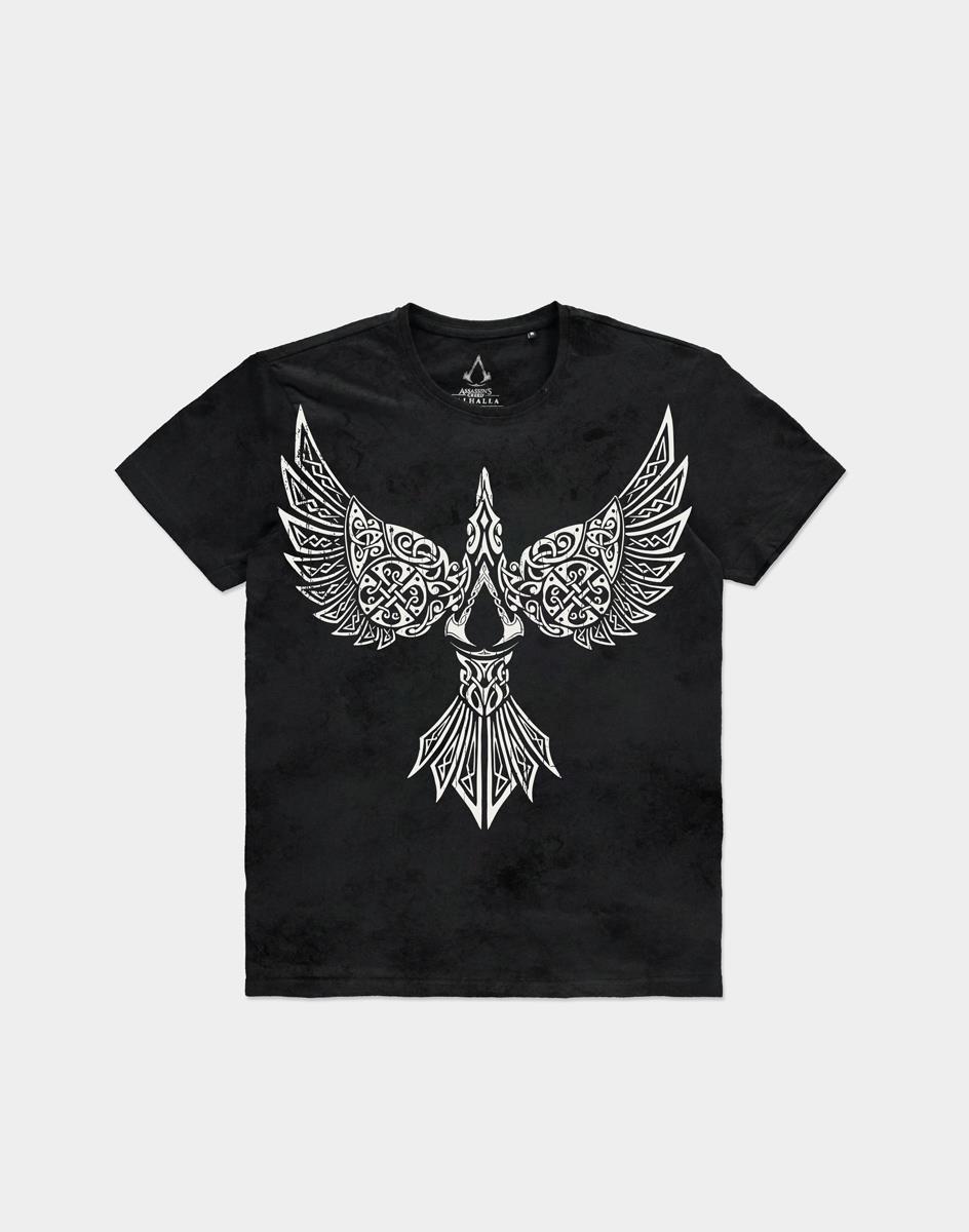 Tričko Assassins Creed: Valhalla - Raven (velikost M)