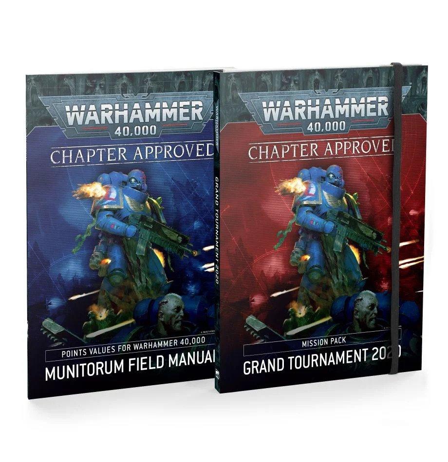 Knihy Warhammer 40,000 - Grand Tournament 2020 a Munitorum Field Manual (PC)