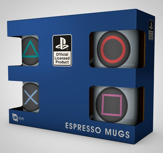 Hrnek PlayStation - Espresso Sada - 4 ks