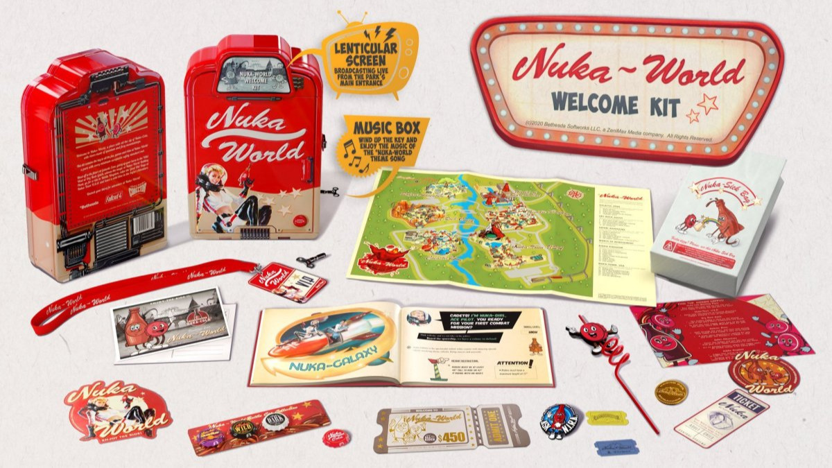 Dárkový set Fallout - Nuka World Welcome Kit