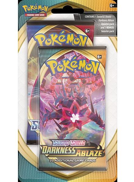 Karetní hra Pokémon TCG: Sword and Shield Darkness Ablaze (10 karet) + 10 karet zdarma (PC)
