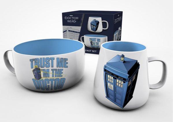 Snídaňový set Doctor Who - Tardis