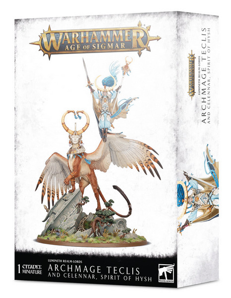 W-AOS: Lumineth Realm Lords Archmage Teclis and Celennar, Spirit of Hysh (1 figurka) (PC)