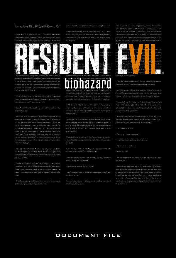 Kniha Resident Evil 7: Biohazard Document File
