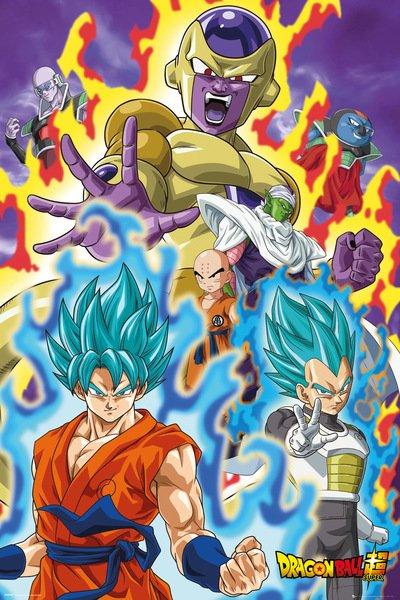 Plakát Dragon Ball Z - God Super