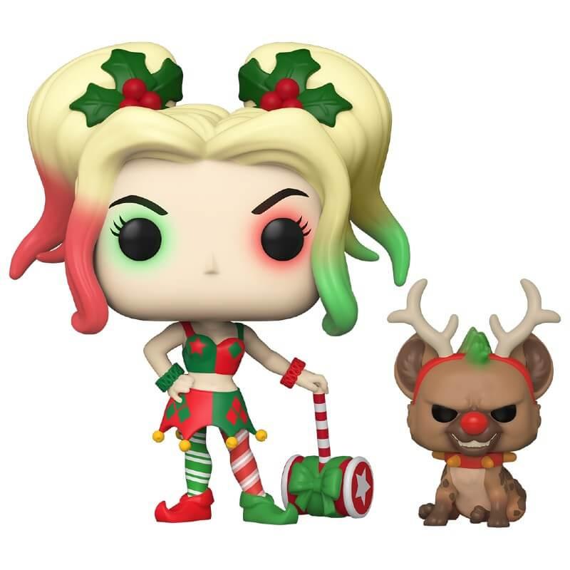 Figurka DC Comic - Holiday Harley Quinn with Helper (Funko POP! DC 357) (PC)