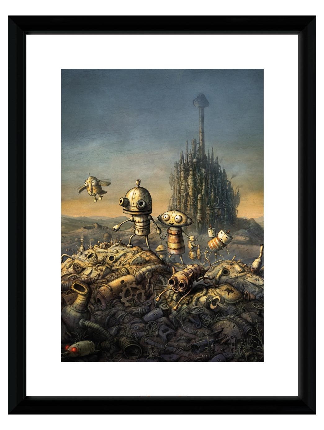 Zarámovaný plakát Xzone Originals - Machinarium (PC)