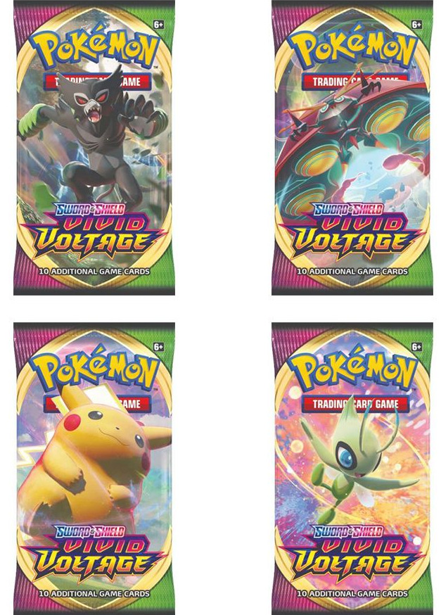 Karetní hra Pokémon TCG: Sword and Shield Vivid Voltage - Booster (10 karet) (PC)