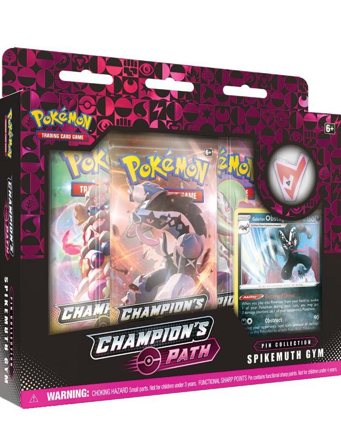 Karetní hra Pokémon TCG: Champion's Path - Pin Collection (Spikemuth Gym) (PC)