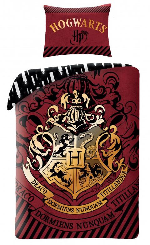 Povlečení Harry Potter - Hogwarts (červené) (PC)