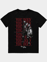 Tričko Demon's Souls - You Died Knight (velikost L)