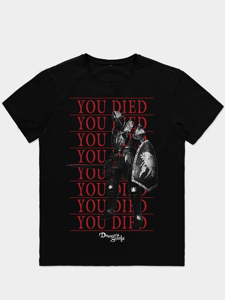Tričko Demon's Souls - You Died Knight (velikost XXL) (PC)