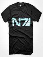 Mass Effect 3 - Glitch N7 Logo, black, Size M
