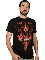 Diablo III T-Shirt - Burning, Black, S